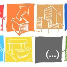 Piktogramme, Cover für Entwurfsprozesse