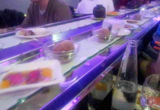 Cinta de comida china del restaurante Kintaro