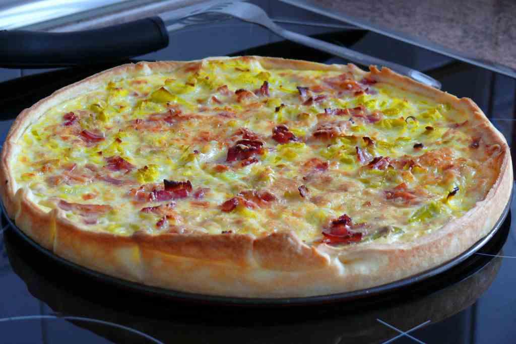 Quiche de puerro y bacon for Quiche de verduras facil