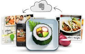 Si queremos guardar nuestras recetas en la nube, podemos utilizar evernote food, diseñado para guardar momentos culinarios y compartirlos con amigos