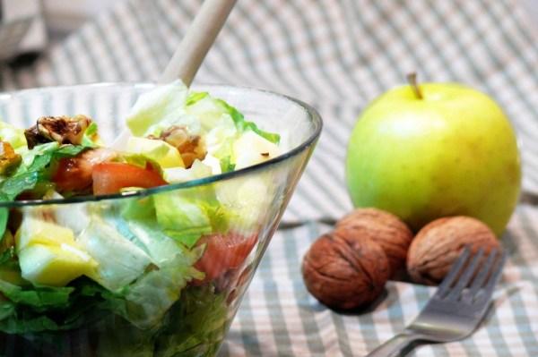 recetas de ensaladas con manzana y nueces