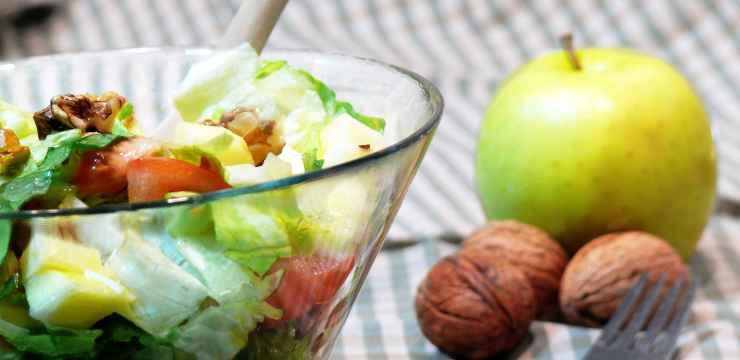 Recetas de ensaladas : manzana y nueces