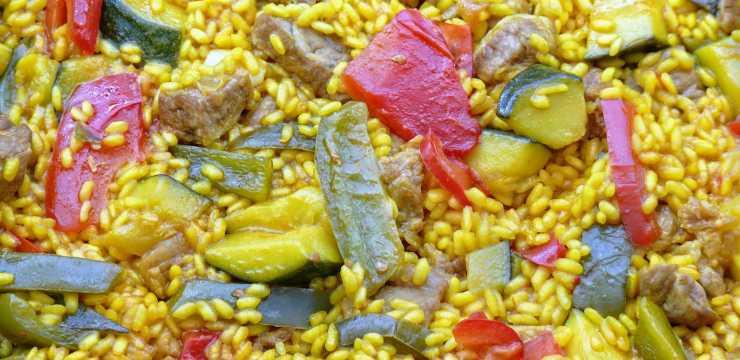 Arroz con verduras y magro