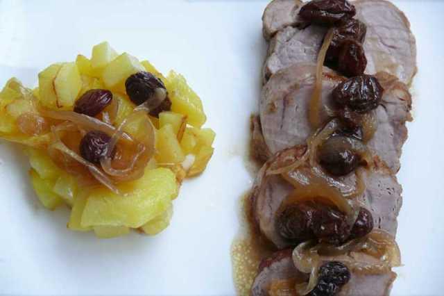 solomillo con patatas