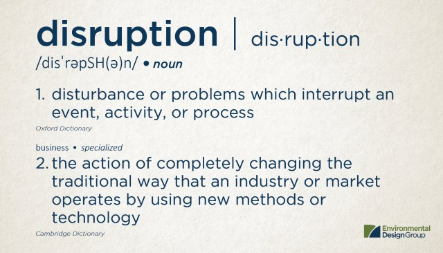 The Definition of Disruption