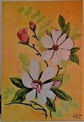 Pintura em tele de Milu Freitas