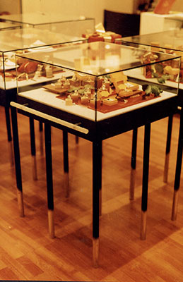table de cuisine en verre