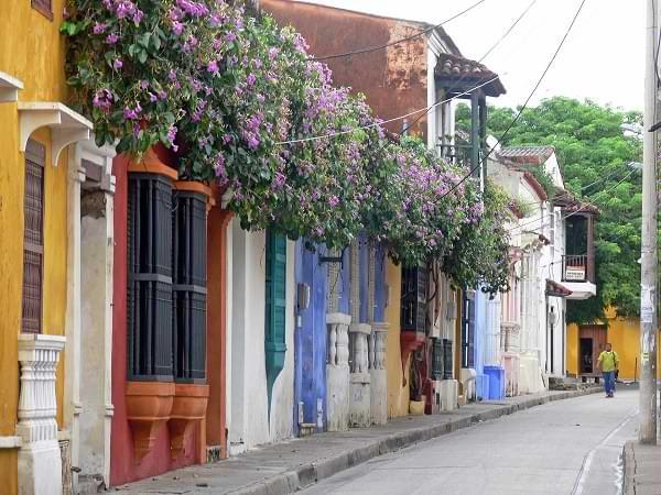Calle colonial - Cartagena de Indias
