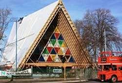 Catedral de cartón de Shigeru Ban en Nueva Zelanda