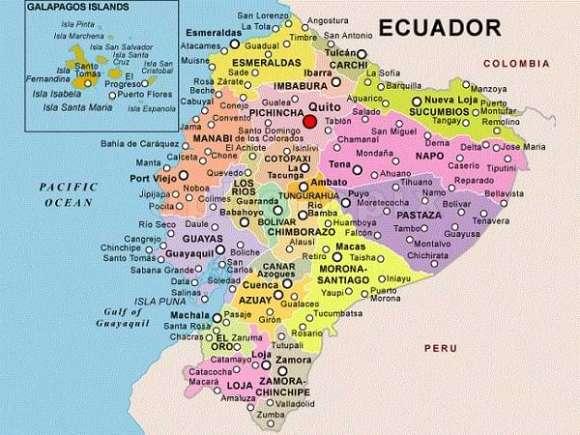 Mapa de Ecuador - 22 provincias
