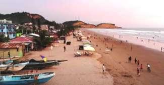 Playa de Olón en Ecuador