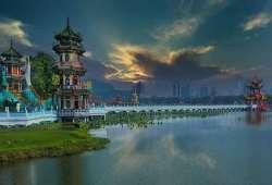 Taiwán - Lago de loto en la Ciudad de Kaohsiung