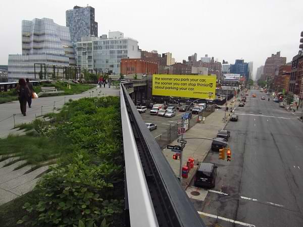 Vista de calle desde el High Line Park