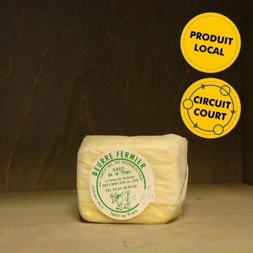 GAEC de la Thau - beurre fermier au gros sel de Noirmoutier (250g)