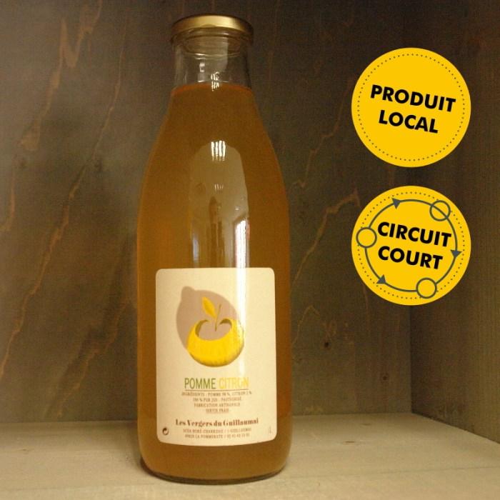 Les Vergers de Guillaumai - jus de pomme citron 1L