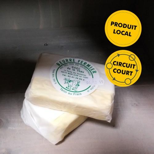 GAEC de la Thau - beurre fermier au sel fin de Guérande (250g)