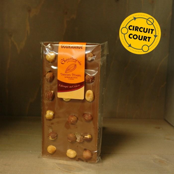 La Route du Cacao - tablette de chocolat gourmande lait noisette 90g
