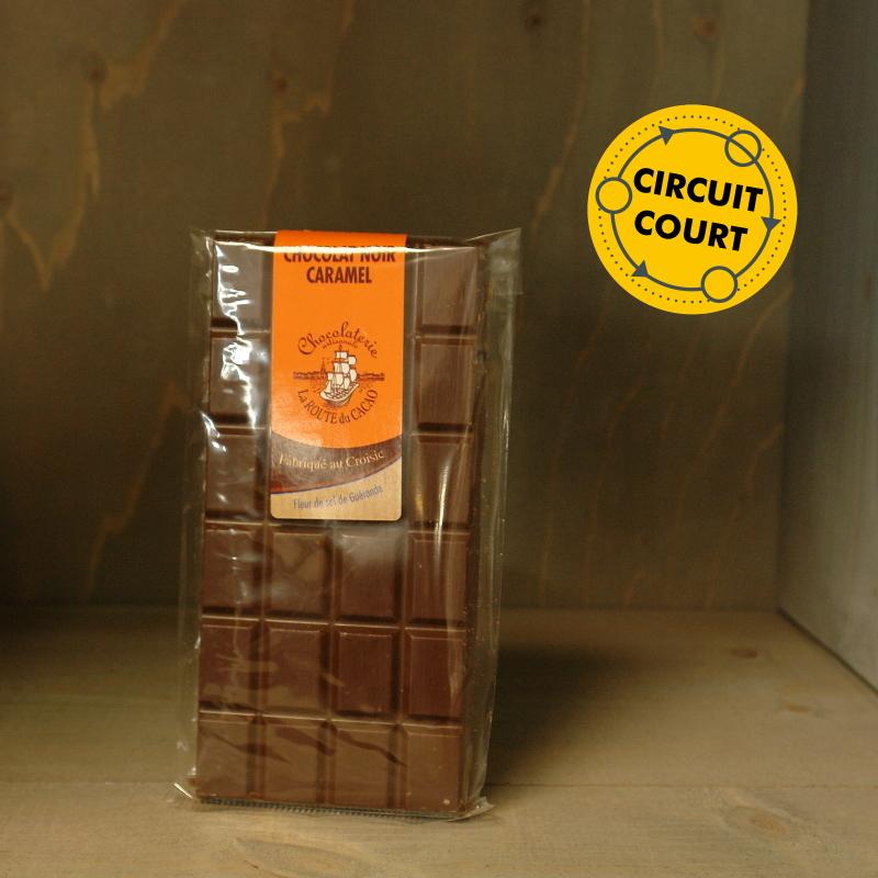 La Route du Cacao - tablette de chocolat noir caramel 90g