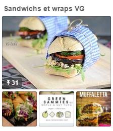 tableau pinterest sandwichs et Wraps