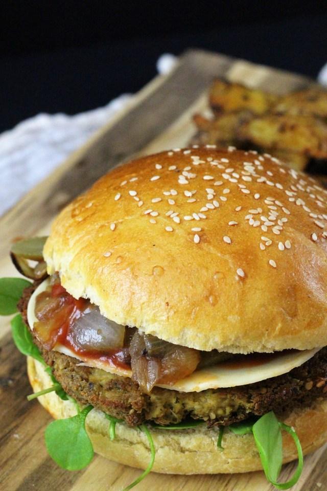 Super easy vegan burger