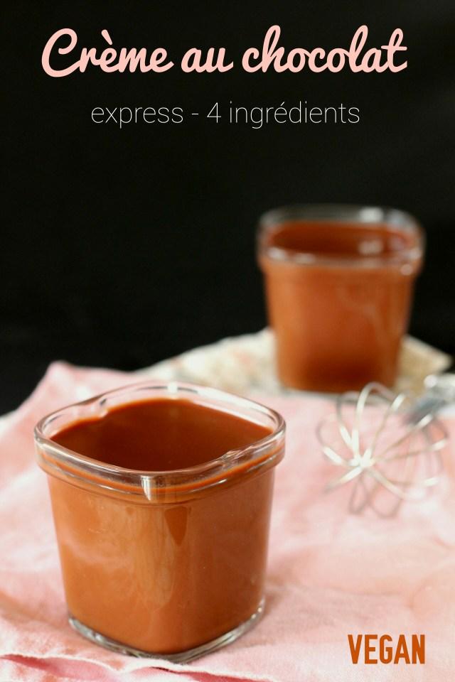 Crème au chocolat vegan. Inratable, délicieuse, et seulement 4 ingrédients !!!