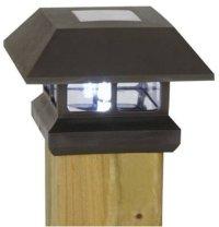 Moonrays Solar Powered Fence Post Light - EnviroGadget