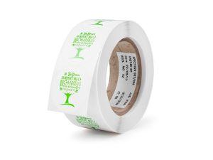 45mm round compostable sticker Green Tree