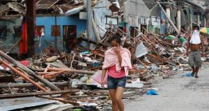 World Bank warns that damages from extreme weather are rising Super Typhoon ruins