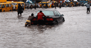 Lagos during rainstorm in pictures Stuck out there