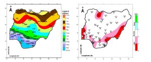 Maps showing the onset of rain in 2014