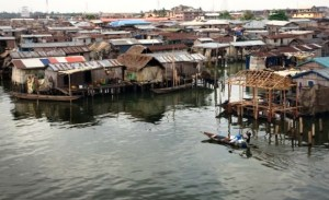 A riverside community in Nigeria, where government is seeking to access the Adaptation Fund