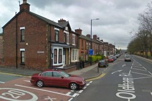 The man was found on Oldham Road, Ashton-under-Lyne, in the early hours of this morning.  Man, 23, found bleeding in street after being stabbed several times GV Ashton 300x199