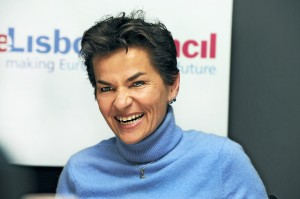 Christiana Fugueres, Executive Secretary of the UNFCCC  Christiana Figueres: IPCC report builds positive steam towards Lima, Paris Figueres 300x1991
