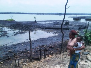 Aftermath of oil spill in Bodo. Photo: Leigh Day
