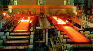 A steel making plant line