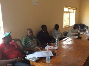 From left: Richard Okibe, Raymond Ebonime, Faniyan Babasola, Olatilu Olubunmi Benson and Tijani Ahmad, during a meeting involving the UN-REDD+ Scoping Team and officials of the Ekiti State Government, in Ado-Ekiti, on Monday October 27, 2014  Ekiti, Ondo, Delta showcase community forestry strategies as states jostle for UN-REDD+ Ekiti 300x223