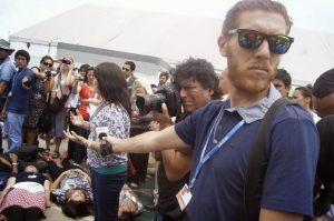 Die 4  Mass 'die-in' protests as Lima climate talks end Die 4 300x199