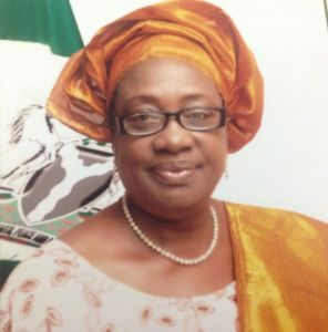 Mrs. Laurentia Laraba Mallam, Nigera's Minister of Environment  Laurentia Mallam: How Paris 2015 agreement can be a reality IMG 20140930 WA004 296x300