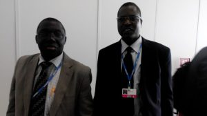 Dr Samuel Adejuwon (left) and Peter Tarfa  Nigerian delegation to Lima COP 20 in photos IMG 20141208 090229 300x168