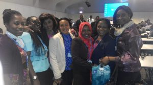 A group of female delegates at the COP