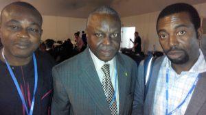 Chinedu Uwaegbulam (The Guardian newspaper) (left), Prince Lekan Fadina (CISME) (middle) and Ochuko Odibo