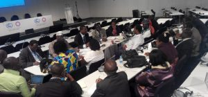 The group in a meeting  Nigerian delegation to Lima COP 20 in photos IMG 20141208 174236 300x140
