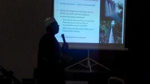 National Coordinator, Nigeria UN-REDD+ Programme, Salisu Dahiru, making a presentation