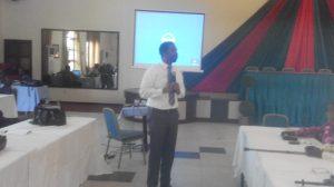 REDD+ Specialist, Ochuko Odibo, addressing the gathering