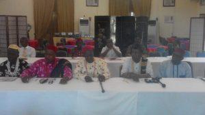Royal Fathers at the forum (L-R): Dr. Etim Ekpo (Akpabuji), Ntufam Clement Ekpe Emajip (Akamkpa), Chief Obio Aidam Eyo (Ekuri/Eko cluster), Otu Fredalin Akandu (Boki), Ovat Ewona (Obubra) and Emmanuel Oru Gomg (Etung)