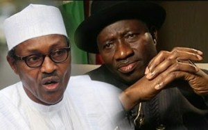 President Goodluck Jonathan (right) and General Muhammad Buhari will contest the 2015 presidential elections. Photo credit: naijagists.com
