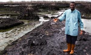 A fish farmer whose farm was destroyed after the 2008 oil spill. Photo credit: amnesty.org.uk  Bodo spill: Shell's N16 billion compensation 'inadequate' 136226 bodo nigeria 548x331 300x181