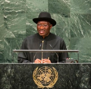 President Goodluck Jonathan at the UN. Photo credit: csdevnet.org