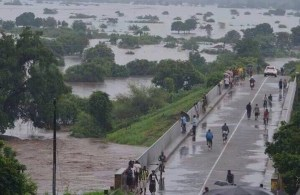 Weeks of very heavy rainfall have triggered widespread flooding in Malawi. Photo credit: Water Journalists – Africa