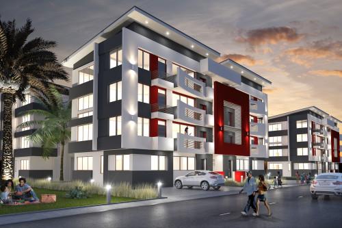 An impression of apartment flats at Cranbel Estate